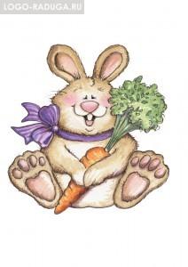 Материал: сюжетная картинка с изображением зайчика и нужное количество картонных кочанчиков капусты или морковок (или того и другого). Ход игры: На столе раскладываются морковки. Ребенок называет картинки, изображенные на обороте морковок (кочанчиков), и угощает ими зайчика.