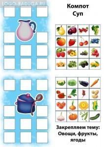 Закрепляем тему Овощи, фрукты, ягоды