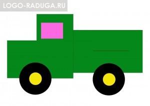 Разноцветные грузовики
