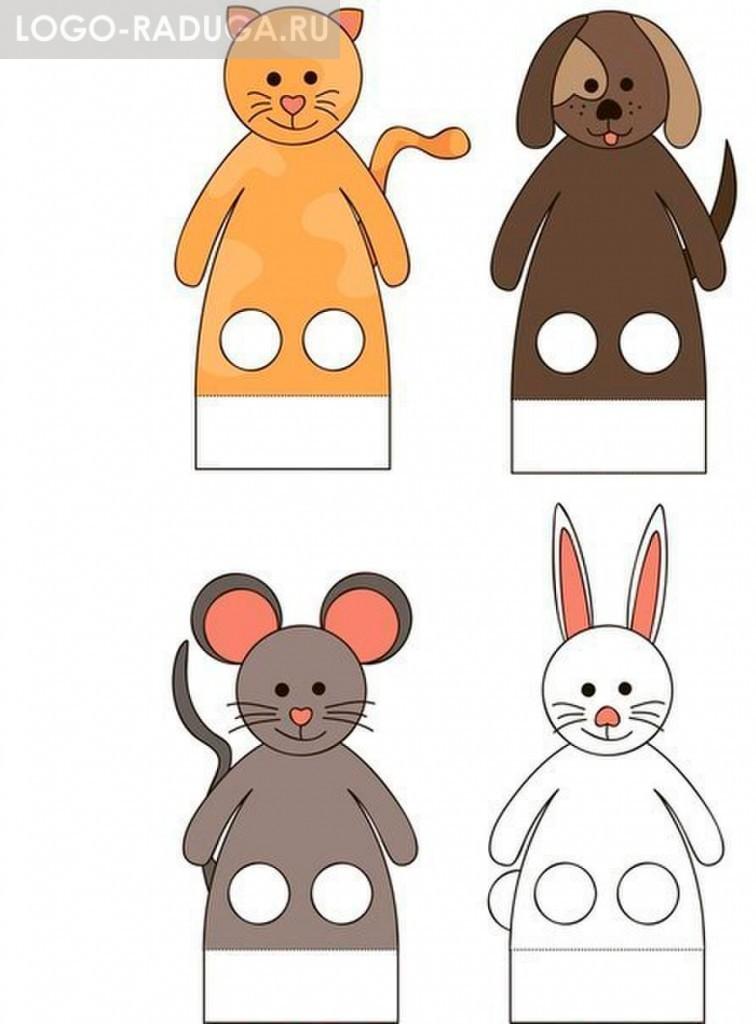 Игрушки на пальчики из бумаги
